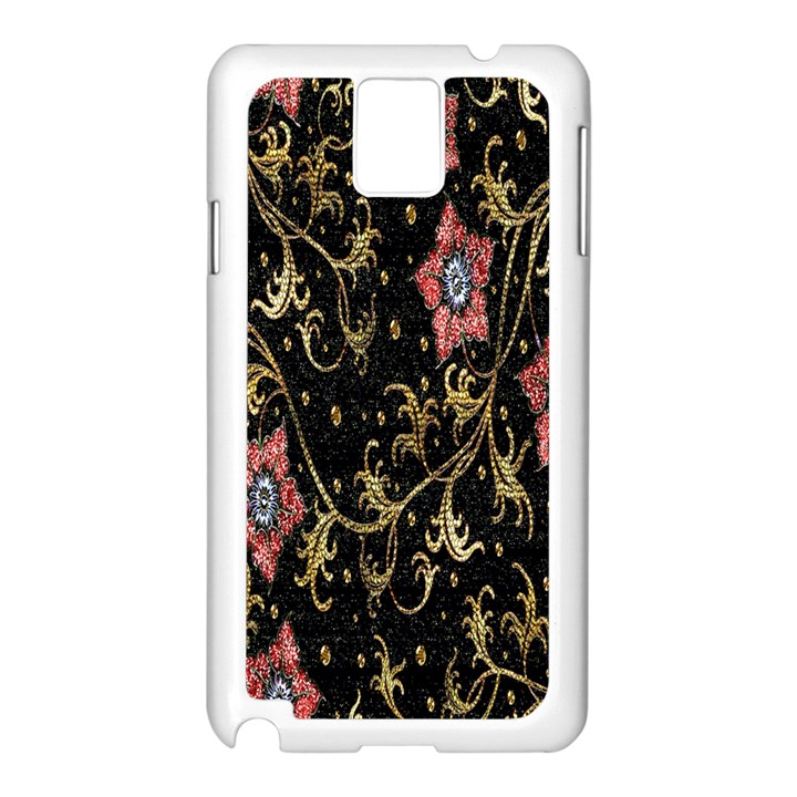 Floral Pattern Background Samsung Galaxy Note 3 N9005 Case (White)
