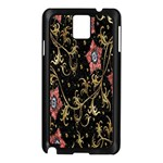Floral Pattern Background Samsung Galaxy Note 3 N9005 Case (Black) Front