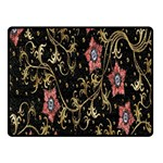 Floral Pattern Background Double Sided Fleece Blanket (Small)  50 x40 Blanket Back