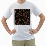 Floral Pattern Background Men s T-Shirt (White)  Front