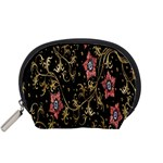 Floral Pattern Background Accessory Pouches (Small)  Front