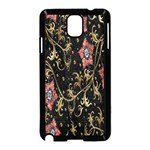 Floral Pattern Background Samsung Galaxy Note 3 Neo Hardshell Case (Black) Front
