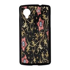 Floral Pattern Background Nexus 5 Case (Black)