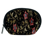 Floral Pattern Background Accessory Pouches (Medium)  Front