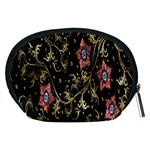 Floral Pattern Background Accessory Pouches (Medium)  Back