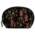Floral Pattern Background Accessory Pouches (Large)  Front