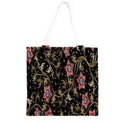 Floral Pattern Background Grocery Light Tote Bag