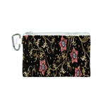 Floral Pattern Background Canvas Cosmetic Bag (S) Front