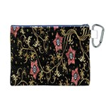 Floral Pattern Background Canvas Cosmetic Bag (XL) Back