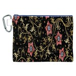Floral Pattern Background Canvas Cosmetic Bag (XXL) Front