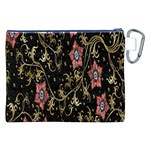 Floral Pattern Background Canvas Cosmetic Bag (XXL) Back