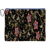 Floral Pattern Background Canvas Cosmetic Bag (XXXL) Front