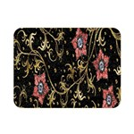 Floral Pattern Background Double Sided Flano Blanket (Mini)  35 x27 Blanket Back