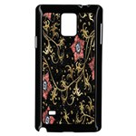 Floral Pattern Background Samsung Galaxy Note 4 Case (Black) Front