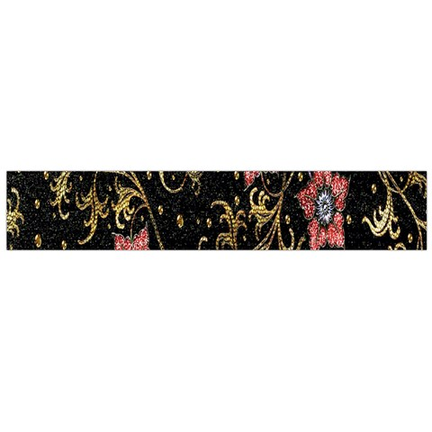 Floral Pattern Background Flano Scarf (Large)