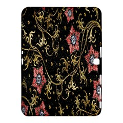 Floral Pattern Background Samsung Galaxy Tab 4 (10.1 ) Hardshell Case