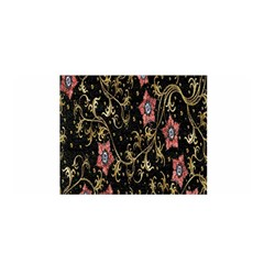 Floral Pattern Background Satin Wrap