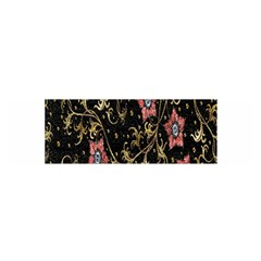 Floral Pattern Background Satin Scarf (Oblong)
