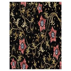 Floral Pattern Background Drawstring Bag (Large)