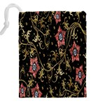 Floral Pattern Background Drawstring Pouches (XXL) Back