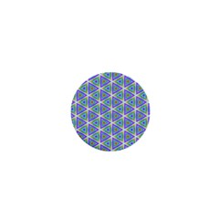 Colorful Retro Geometric Pattern 1  Mini Buttons