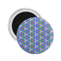 Colorful Retro Geometric Pattern 2 25  Magnets