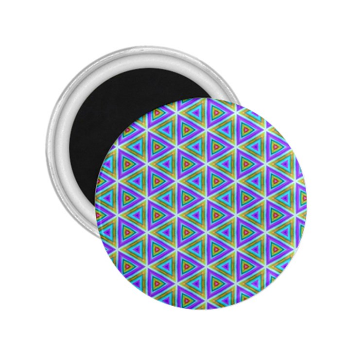 Colorful Retro Geometric Pattern 2.25  Magnets