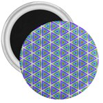 Colorful Retro Geometric Pattern 3  Magnets Front