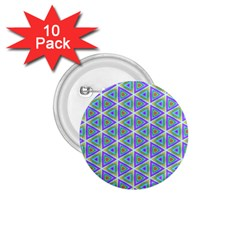 Colorful Retro Geometric Pattern 1.75  Buttons (10 pack)