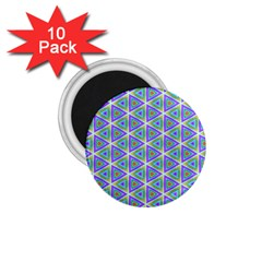 Colorful Retro Geometric Pattern 1.75  Magnets (10 pack)
