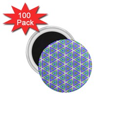 Colorful Retro Geometric Pattern 1 75  Magnets (100 Pack)