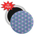 Colorful Retro Geometric Pattern 2.25  Magnets (10 pack)  Front