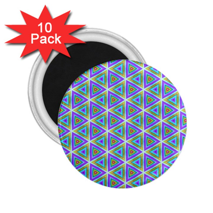 Colorful Retro Geometric Pattern 2.25  Magnets (10 pack)