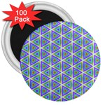 Colorful Retro Geometric Pattern 3  Magnets (100 pack) Front