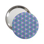 Colorful Retro Geometric Pattern 2.25  Handbag Mirrors Front