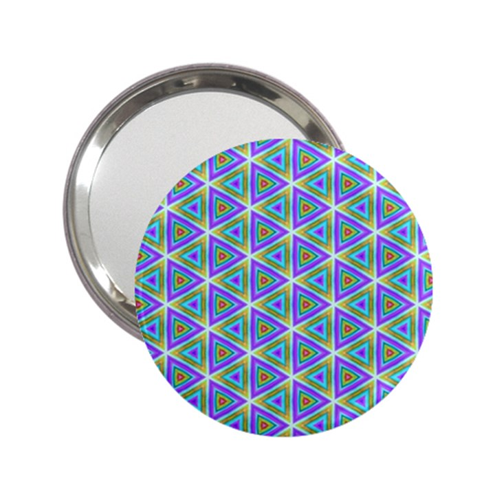 Colorful Retro Geometric Pattern 2.25  Handbag Mirrors