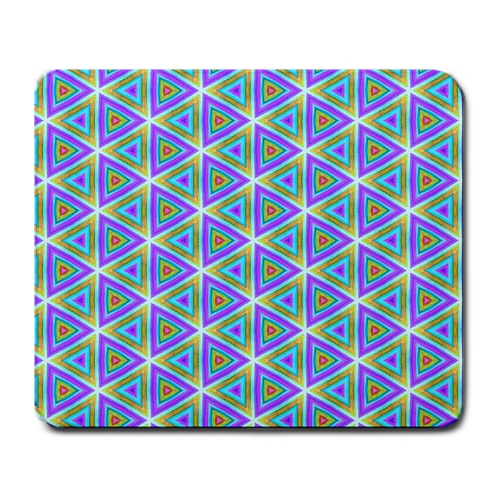 Colorful Retro Geometric Pattern Large Mousepads