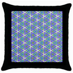 Colorful Retro Geometric Pattern Throw Pillow Case (Black) Front