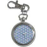 Colorful Retro Geometric Pattern Key Chain Watches Front