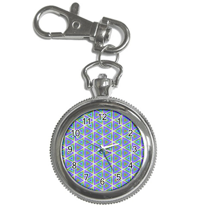 Colorful Retro Geometric Pattern Key Chain Watches