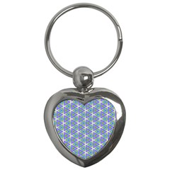 Colorful Retro Geometric Pattern Key Chains (heart)
