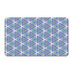 Colorful Retro Geometric Pattern Magnet (Rectangular) Front