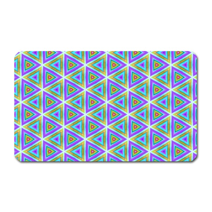 Colorful Retro Geometric Pattern Magnet (Rectangular)