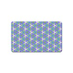 Colorful Retro Geometric Pattern Magnet (Name Card) Front