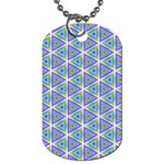 Colorful Retro Geometric Pattern Dog Tag (Two Sides) Front