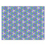 Colorful Retro Geometric Pattern Rectangular Jigsaw Puzzl Front