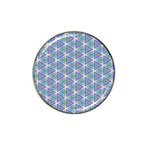 Colorful Retro Geometric Pattern Hat Clip Ball Marker Front