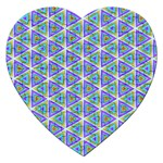 Colorful Retro Geometric Pattern Jigsaw Puzzle (Heart) Front