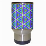 Colorful Retro Geometric Pattern Travel Mugs (White) Center