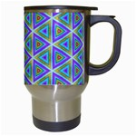 Colorful Retro Geometric Pattern Travel Mugs (White) Right